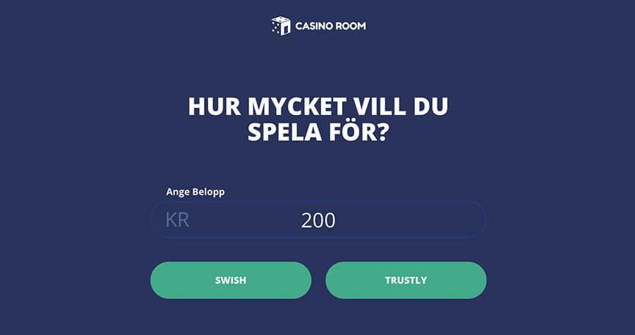 Casino Room registrering / insättning
