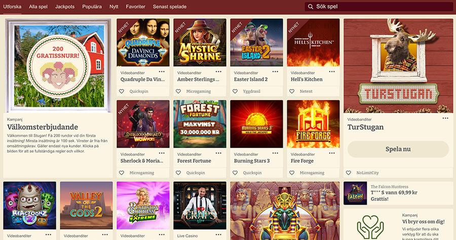 Casinostugans hemsida med alla spel